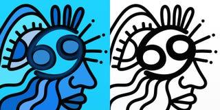 Abstrakt zodiaktecken - cancer royaltyfri illustrationer