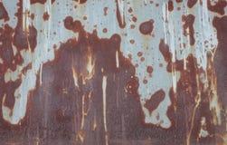 Abstrakt Zrudziała tekstura na żelazo talerza tle Obrazy Stock
