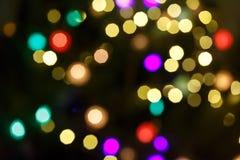 Abstrakta świętowania lekki tło z defocused złotymi światłami dla bożych narodzeń, nowy rok, wakacje obraz royalty free