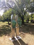 Abstrakta żelaza rzeźba para Fotografia Royalty Free