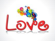 Abstrakta 3d miłości tekst z kolorowym dymem Obraz Royalty Free