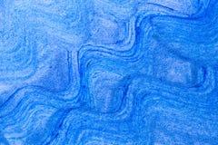Abstrakta akrylowego obrazu sztuki falowa błękitna ręka rysujący kreatywnie plecy Zdjęcie Royalty Free