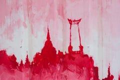 Abstrakta Art Painting på zinkplattavägrenen Royaltyfri Foto