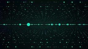 Abstrakta astronautyczny tło, geometria ukazuje się, wykłada, i punkty siatka abstrakcjonistyczny tunel Abstrakcjonistyczny cząst ilustracji