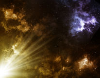 Abstrakta astronautyczny tło Fotografia Stock