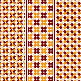 Abstrakta Autumn Leaves Pattern Royaltyfria Bilder