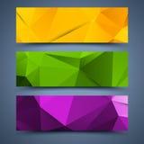Abstrakta bakgrunder för Сolor baner vektor illustrationer