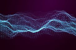 Abstrakta bakgrundsblått för musik Utjämnaren för musik som visar solida vågor med musik, vinkar, musikbakgrundsutjämnaren stock illustrationer