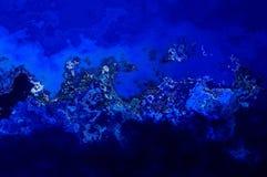 Abstrakta bakgrundskurvblått Fotografering för Bildbyråer