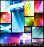 Abstrakta bakgrundsmallar för dina färgrika reklamblad stock illustrationer