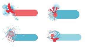 Abstrakta baner för självständighetsdagen Stock Illustrationer