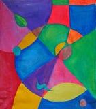 Abstrakta barwiony geometryczny wzór na tkaninie royalty ilustracja