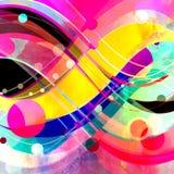 Abstrakta barwiony t?o z falistymi elementami zdjęcia stock