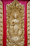 Abstrakta begreppet för texturer för statyThailand munk arkivbild