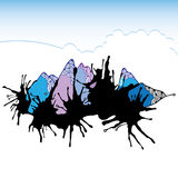 Abstrakta berg för din design Royaltyfri Illustrationer