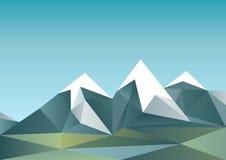 Abstrakta berg i polygonal stil Arkivfoto