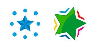 Abstrakta beståndsdelar för mall för design för stjärnalogosymbol Arkivfoton