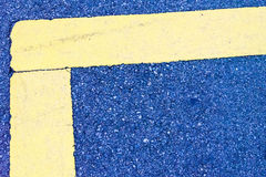 Abstrakta beton wykłada błękitnego kolor żółtego Zdjęcia Stock