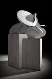 Abstrakta betongkuber och cylindrar framförande 3d stock illustrationer