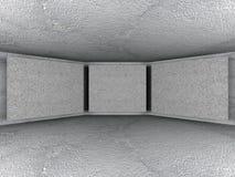 Abstrakta betongväggar tömmer ruminre Arkitekturbackgr Royaltyfri Foto
