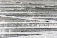 Abstrakta betonu kroka popielaty schodowy tło Obraz Royalty Free