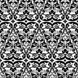 abstrakta bezszwowy wzoru czarny white Obrazy Stock