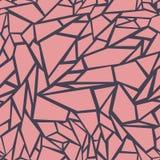 abstrakta bezszwowy wzoru Skutek łamany szkło Obraz Royalty Free