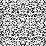 abstrakta bezszwowy wzoru tła czarny karcianego projekta kwiatu fractal dobrego ogange plakatowy biel Zdjęcia Stock