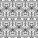 abstrakta bezszwowy wzoru tła czarny karcianego projekta kwiatu fractal dobrego ogange plakatowy biel Obrazy Stock