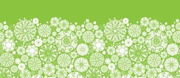 Abstrakta bielu i zieleni okręgi horyzontalni Zdjęcia Stock