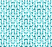 Abstrakta blåa Art Deco Seamless Background Geometrisk modell för fiskskala Royaltyfria Bilder