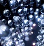 Abstrakta blåa crystal glass bollar, bakgrund lyx Royaltyfri Foto