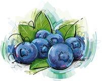 Abstrakta blåbär Arkivbild