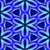 Abstrakta blått exponeringsglas-som geometrisk textur eller bakgrund gjorde sömlöst Stock Illustrationer