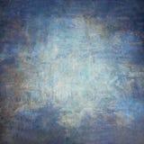 Abstrakta blått hand-målad tappningbakgrund royaltyfri fotografi