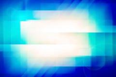Abstrakta blått med signalljusljus som är användbart för teknologi, mall Royaltyfri Foto