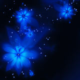 Abstrakta blåa fractalblommor Royaltyfri Fotografi