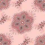 Abstrakta blom- prydnader bryner och grånar på rosa färger Arkivfoton