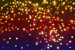 Abstrakta bokeh gwiazdowy tło lub tekstura Fotografia Royalty Free