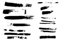 Abstrakta borsteslaglängder - Grunge Stock Illustrationer