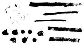 Abstrakta borsteslaglängder - Grunge Royaltyfri Illustrationer