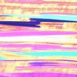 Abstrakta borsteslaglängder målade bakgrund Grungefärgprovkartor i purpurfärgad signal Bra för: affischkort, dekor vektor illustrationer