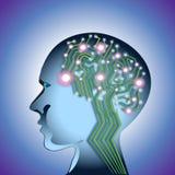 Abstrakta Brain Circuit Fotografering för Bildbyråer