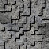 Abstrakta bruna steniga kuber Arkivfoto