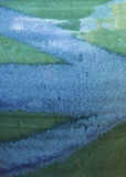 Abstrakta Cętkowany tło w błękicie i chabet zieleni Zdjęcie Royalty Free