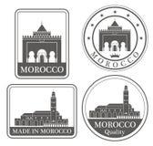 Abstrakta Casablanca royaltyfri illustrationer