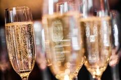 Abstrakta Champagne Glasses Royaltyfri Fotografi