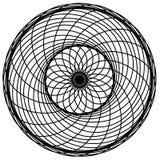 Abstrakta cirkelbeståndsdelar Dreamcatcher Astrologi andlighet, magiskt symbol Etnisk stam- best?ndsdel royaltyfri illustrationer
