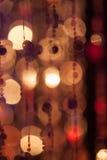 Abstrakta cirles av ljus och färger Arkivbilder