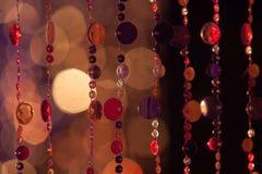 Abstrakta cirles av ljus och färger Arkivfoton